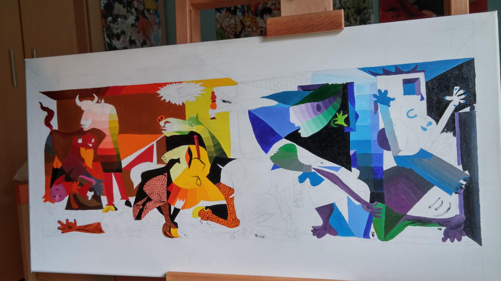 wip guernica in colour by f1r3lectrical on deviantart