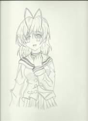 Nagisa Furikawa Pencil Shading 2nd Try
