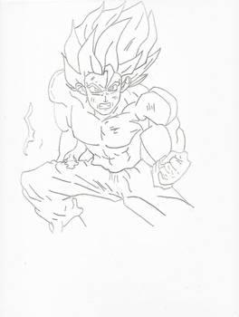 Goku Super Saiyan Lineart Final