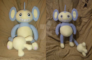 Comm: Blue Aipom Plush by xxtemporaryinsanity