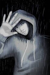 In the rain by MortalFate