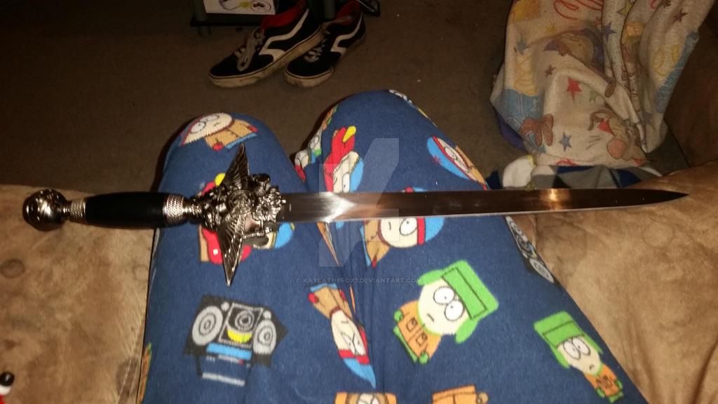 pic 2 of me sword  by kaylathefox1