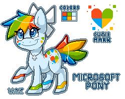 |CLOSED| .:Microsoft Pony Adopt:. |AUCTION| by WandaAdopts