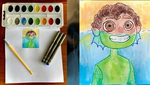 Watercolor practice! [Luca]