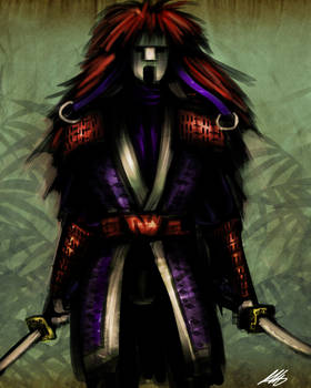 Quick Paint: Kabuki Samurai