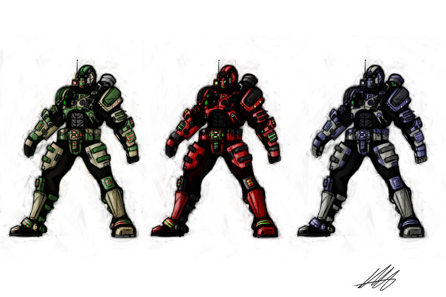 Tech Marine Color Concepts by Kiru100