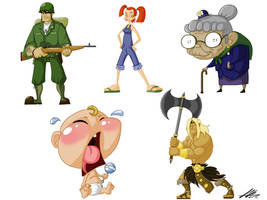 Cartoon Character Sheet 2 by Kiru100