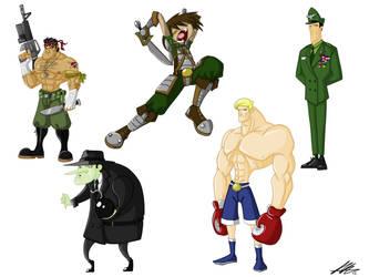 Cartoon Character Sheet 3 by Kiru100