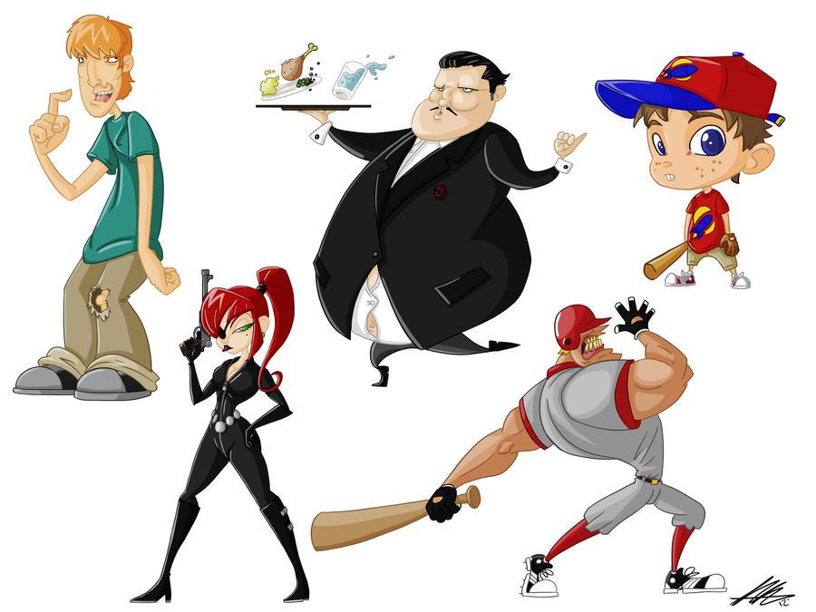 Cartoon Character Sheet 4 by Kiru100
