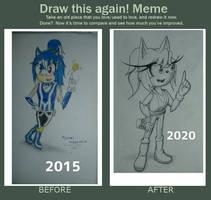 Emerald The Hedgehog - Draw this again meme