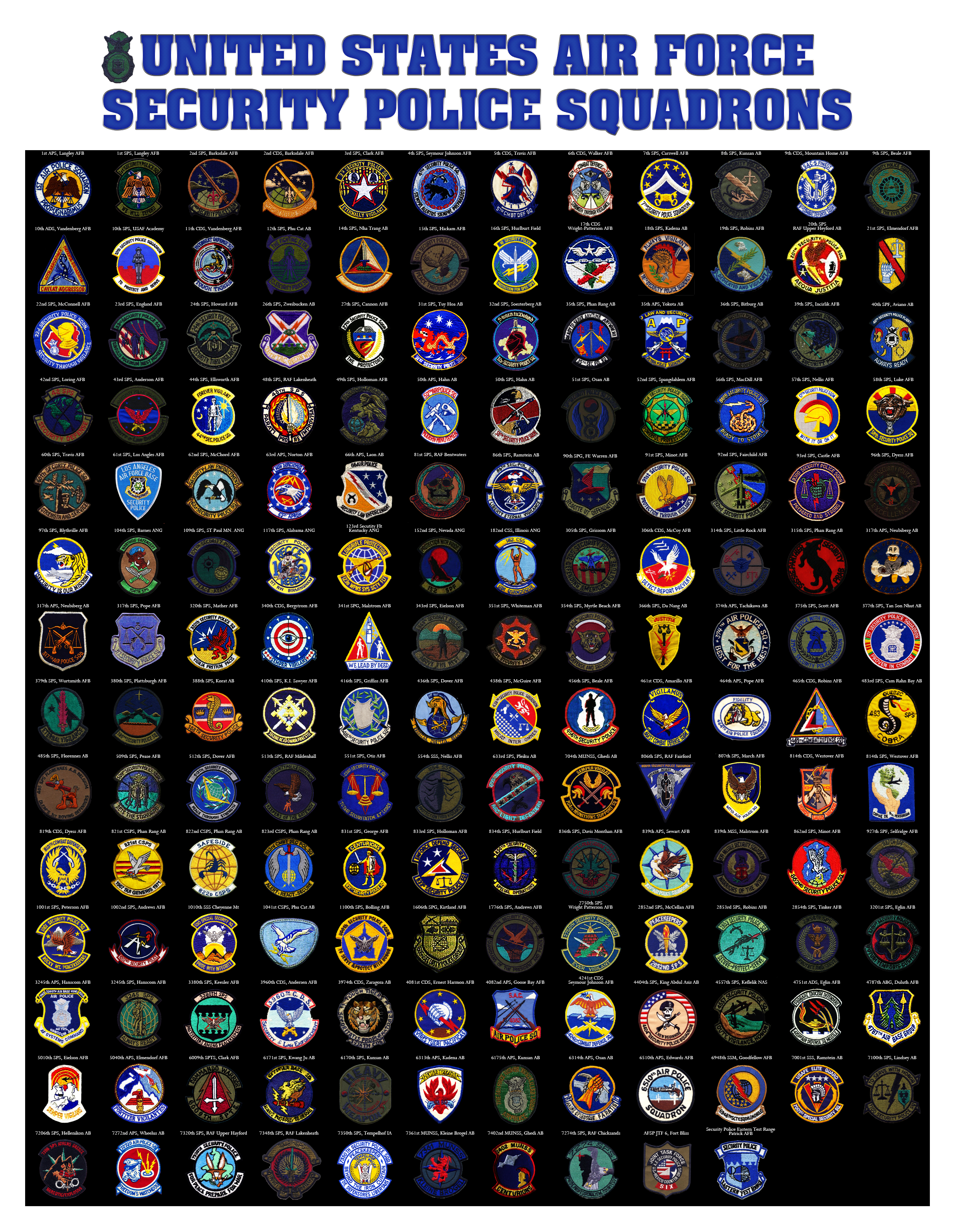 Securit Police Squadron Patch Poster Final By