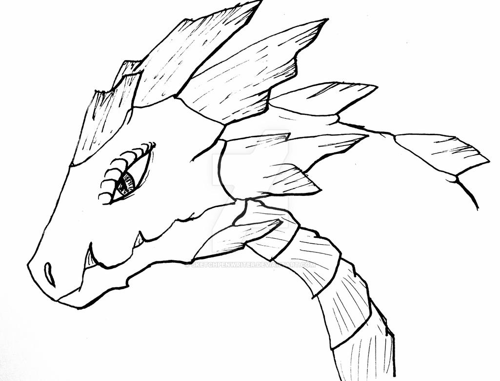 Line Drawing Earth : Earth dragon line art by sketchpenwriter on deviantart