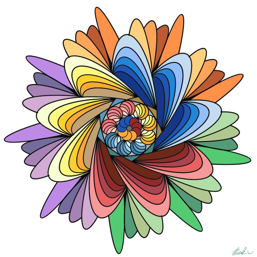 Fractal Flower by SketchPenWriter