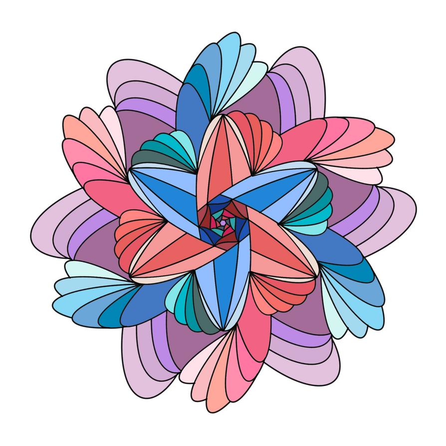 Fractal Flower 2 by SketchPenWriter