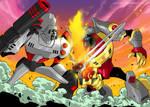 TFA Megatron vs. Grimlock
