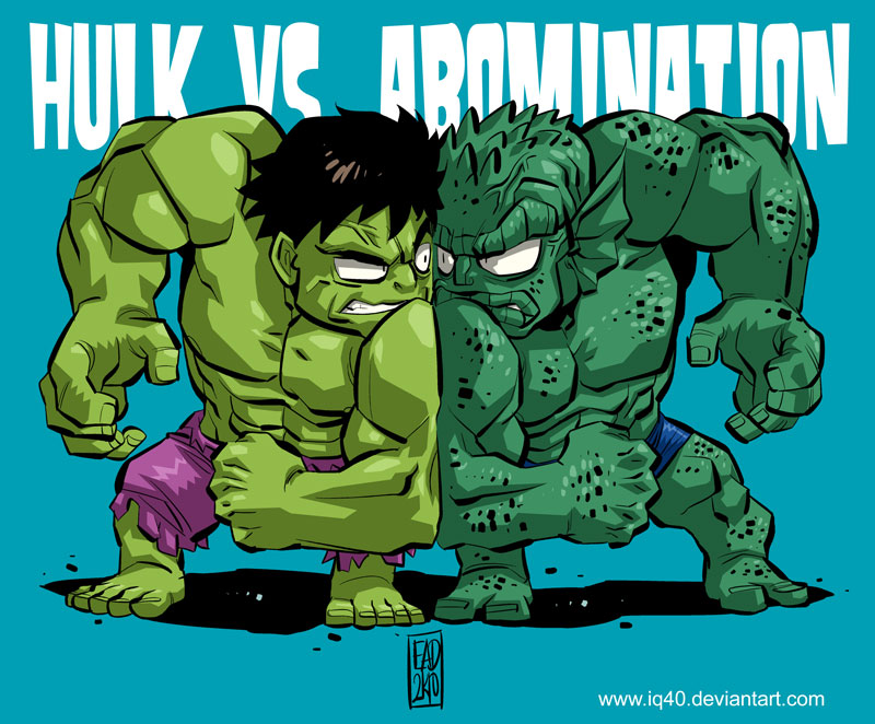Chibi Hulk VS. Abomination by iq40 on DeviantArt