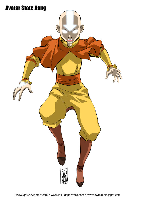 Avatar State Aang By Iq40 On Deviantart
