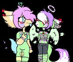 Toxic and his senpai (aka alex) by SkylerTheSkeleton