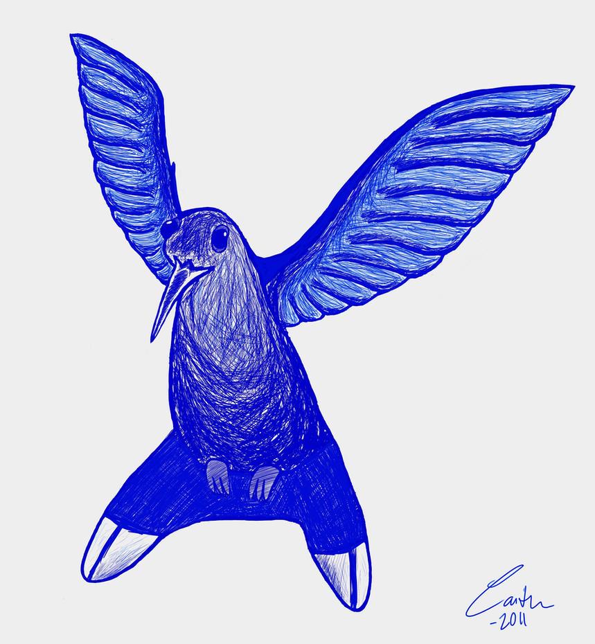 Blue Bird by Caity-phantom