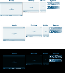 Multimedia Player Interface Modern Design