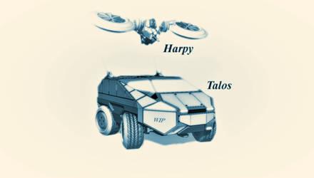 Harpy and Talos WIP by exetleos