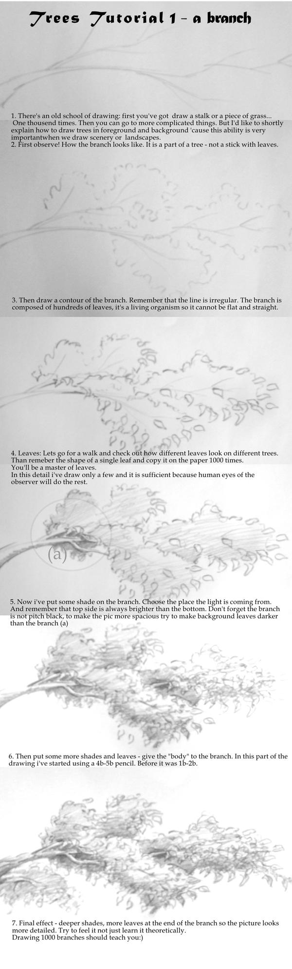 Tree tutorial 1 - a branch by yezoos
