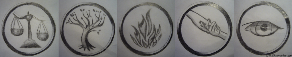 Faction Symbols - Divergent by Katty133 on DeviantArt
