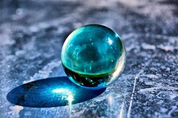 Glass ball on metal by speed demon deviantart
