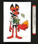 Graden Fox [colored] by den-fantast