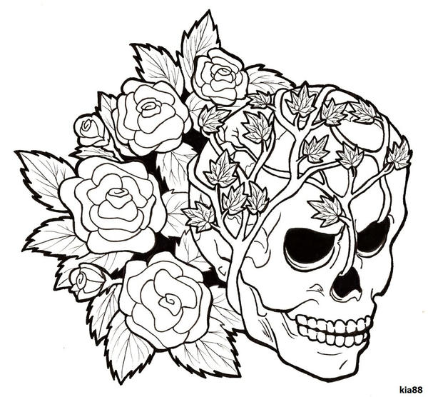 Coloring Pages Of Skulls And Roses Coloring Best Free Skulls And Roses Coloring Pages