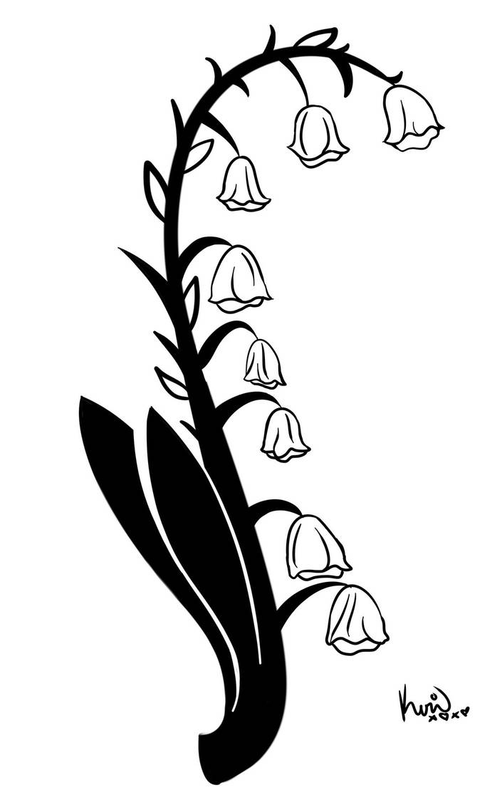 Lily Of The Valley Tattoo Stencil