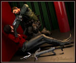 Chris Redfield catches Ada Wong!