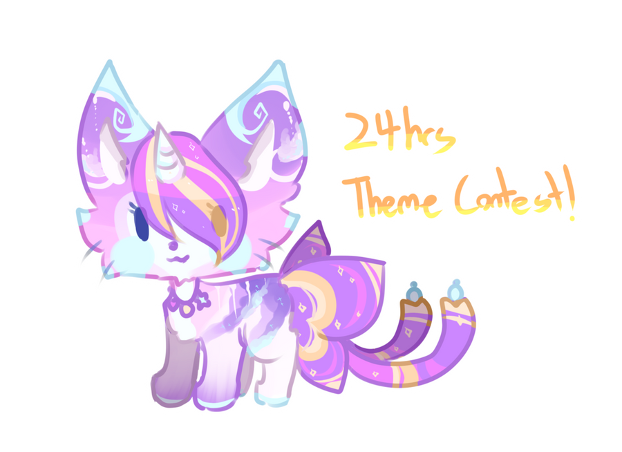 Ribboncat 24hrs Theme Contest! (CLOSED) by Kuro-The-Art-Kitsune