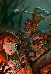 Zombies n' Babes by blitzcadet