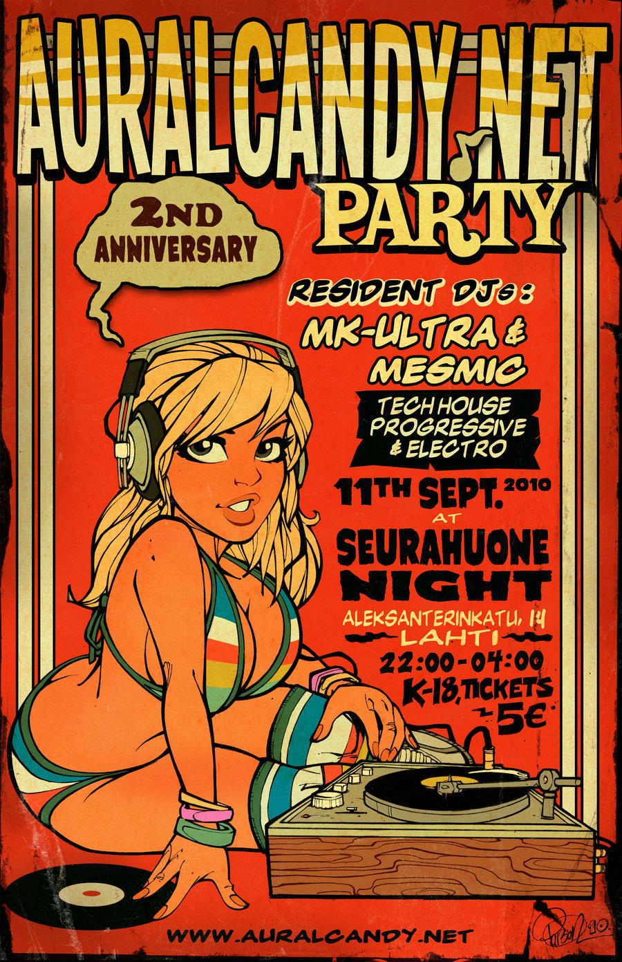 AuralCandy.net Poster by blitzcadet