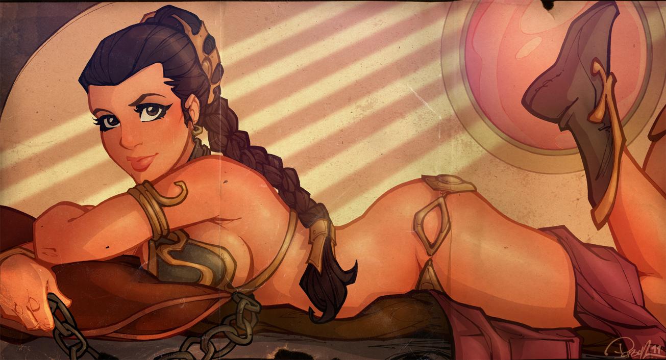 Princess Leia Centerfold by blitzcadet