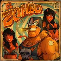El Zombo Pinup by blitzcadet