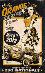 Orange Dragstrip Poster