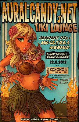 AuralCandy.net Tiki Lounge Poster