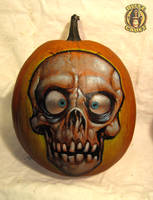 Pumpkin Skull by blitzcadet