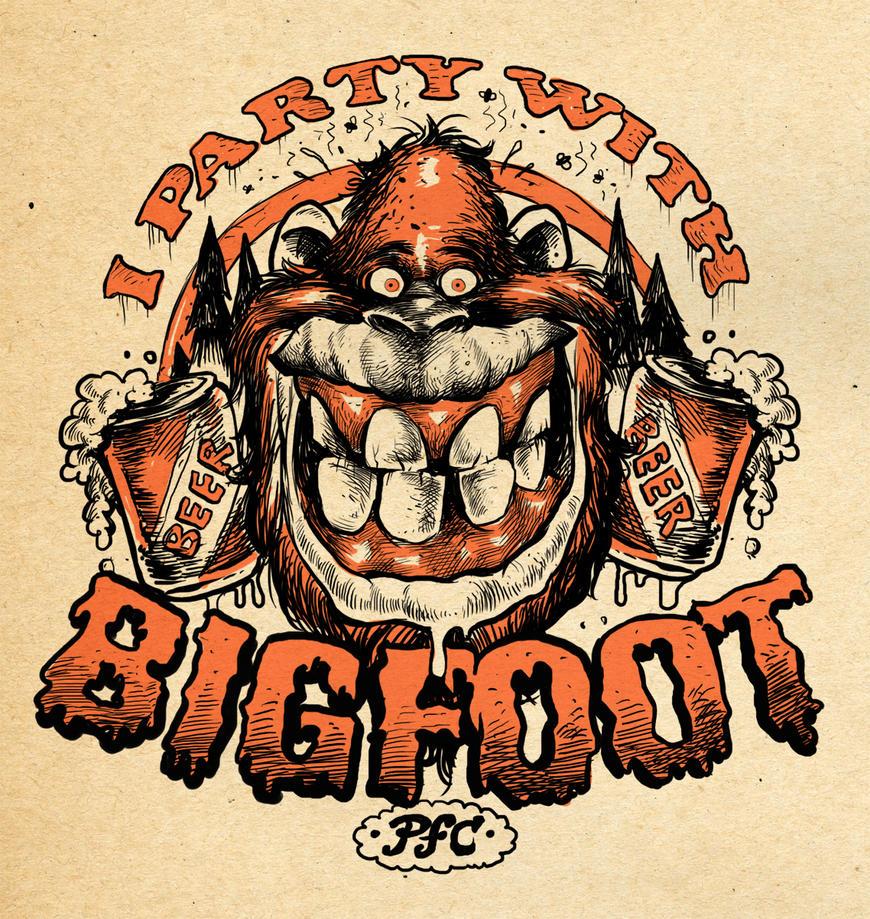 BigFoot Party Shirt by blitzcadet