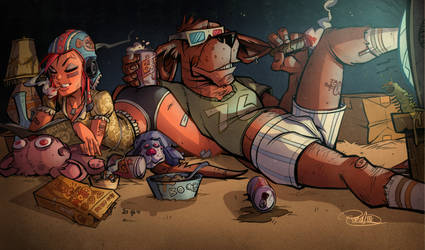 TV and Beer by blitzcadet