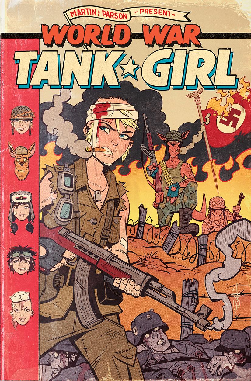 World War Tank Girl #2 Cover by blitzcadet