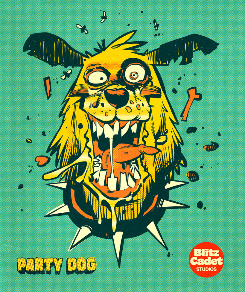 Party Dog T-Shirt by blitzcadet