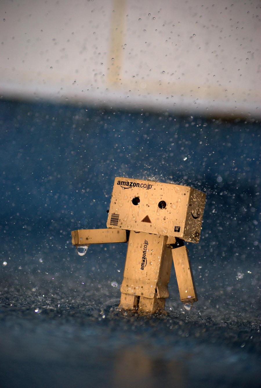 Danbo Gets Wet by badseyboy