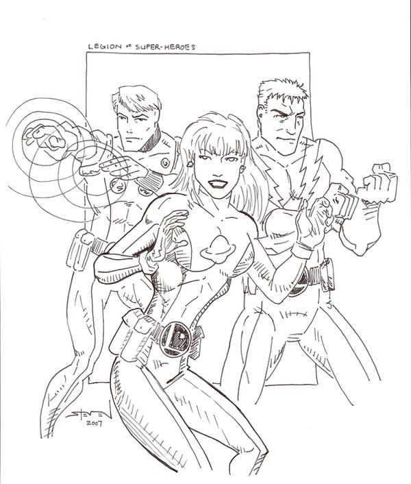 Legion of Superheroes by StevenWilcox