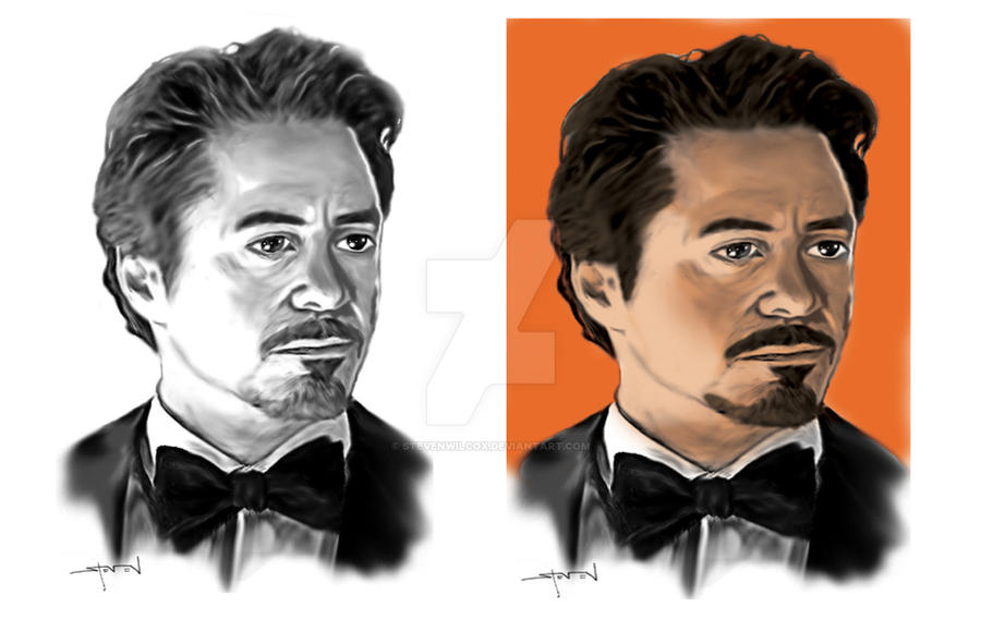 Tony Stark before and after