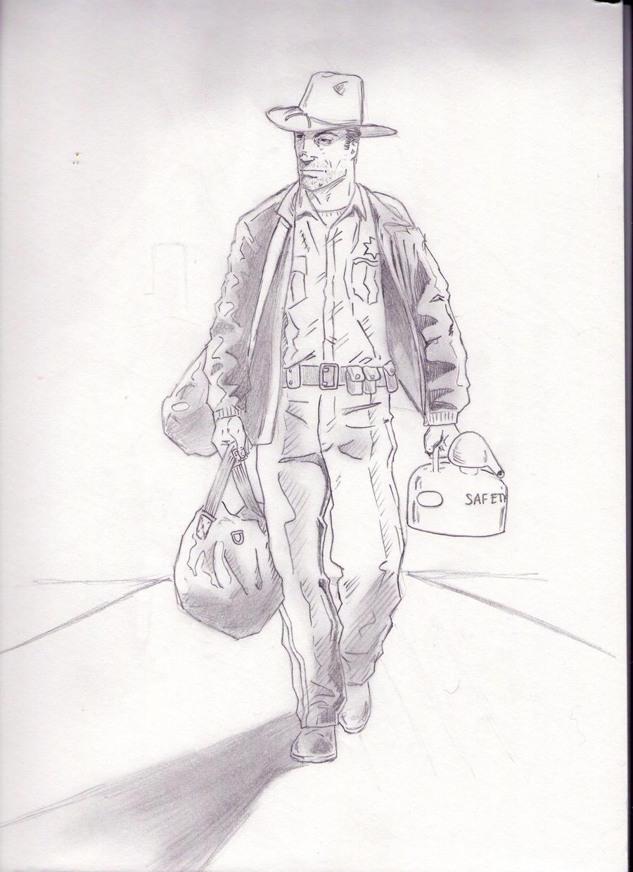 The Walking Dead: Rick Grimes sketch