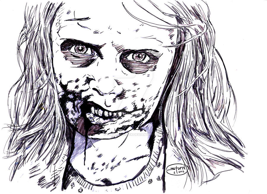 walking dead zombies coloring pages - photo#20