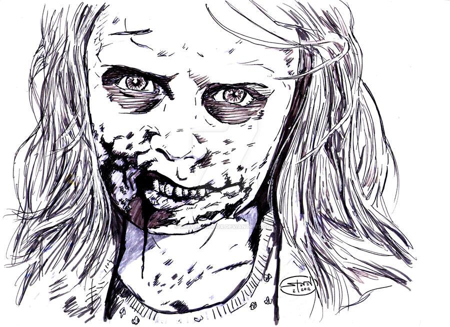 the walking dead zombie girl by stevenwilcox on deviantart. Black Bedroom Furniture Sets. Home Design Ideas